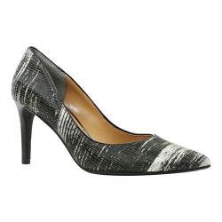 Women's J. Renee Canaro Pointy Toe Pump Black/Silver Metallic Woven Tweed
