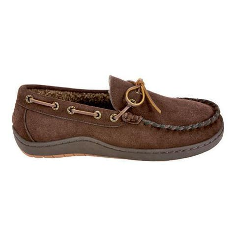 Men's Tempur-Pedic Therman Moccasin Slipper Chocolate Suede