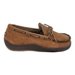 Men's Tempur-Pedic Therman Moccasin Slipper Chestnut Suede - Thumbnail 0
