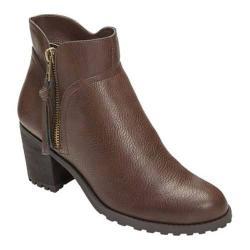Women's Aerosoles Convincing Bootie Brown Faux Leather