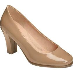 Women's Aerosoles Major Role Pump Light Tan Patent