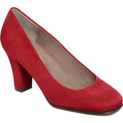 Women's Aerosoles Major Role Pump Red Suede