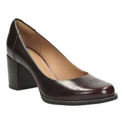 Women's Clarks Tarah Sofia Burgundy Patent Leather