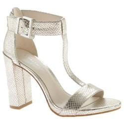 Women's Kenneth Cole New York Daisy T Strap Sandal Pewter Leather