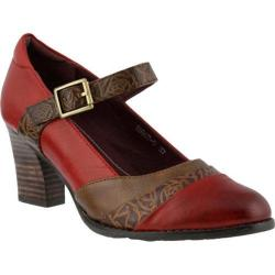 Women's L'Artiste by Spring Step Ashini Mary Jane Red Multi Leather