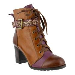 Women's L'Artiste by Spring Step Loreto Bootie Brown Multi Leather