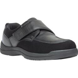 Men's Propet Max Strap Casual Monkstrap Black Leather/Stretch Synthetic Suede|https://ak1.ostkcdn.com/images/products/128/564/P19605079.jpg?impolicy=medium