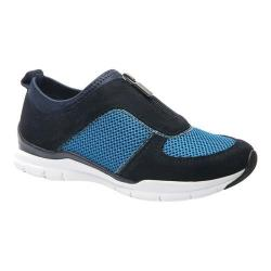 Women's Ros Hommerson Fly Zipper Sneaker Navy Multi Leather/Mesh
