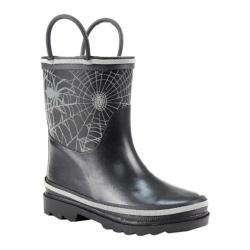 Boys' Western Chief Bright Web Reflective Rain Boot Black