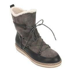 Women's White Mountain Topaz Moon Boot Dark Charcoal Suede