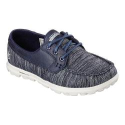 Women's Skechers On The GO Dock Lines Boat Shoe Navy