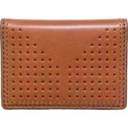 Men's J.Fold Airwave Leather Folding Card Carrier Burnt Orange