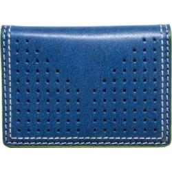 Men's J.Fold Airwave Leather Folding Card Carrier Royal Blue