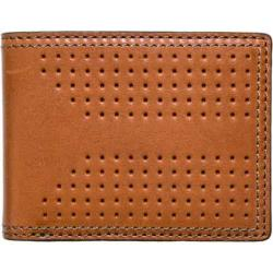 Men's J.Fold Airwave Leather Slimfold Wallet Burnt Orange