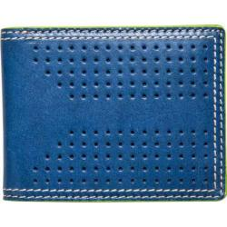 Men's J.Fold Airwave Leather Slimfold Wallet Royal Blue