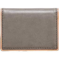 Men's J.Fold Duotone Leather Folding Card Carrier Charcoal