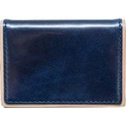 Men's J.Fold Duotone Leather Folding Card Carrier Navy