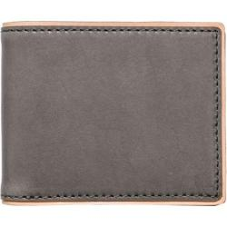 Men's J.Fold Duotone Leather Slimfold Wallet Charcoal