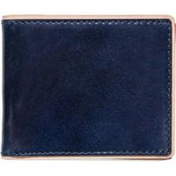 Men's J.Fold Duotone Leather Slimfold Wallet Navy