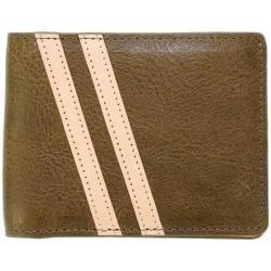 Men's J.Fold Roadster Torrent Leather Slimfold Wallet Olive