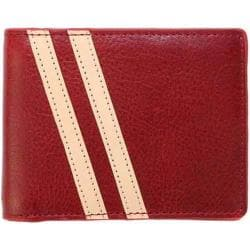 Men's J.Fold Roadster Torrent Leather Slimfold Wallet Red