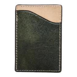 Men's J.Fold Shelby Flat Stash Leather Card Carrier Olive