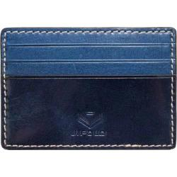 Men's J.Fold Shelby Flat Stash Leather Card Carrier Steel Blue