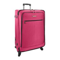 Traveler's Choice Pink 28-inch Expandable Lightweight Spinner Suitcase