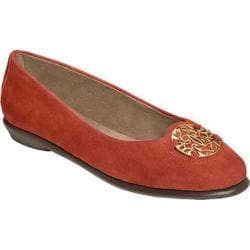 Women's Aerosoles Exhibet Flat Dark Orange Suede