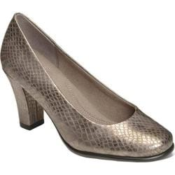 Women's Aerosoles Major Role Pump Silver Snake Printed Faux Leather