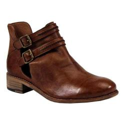 Women's Diba True Road Map Cut Out Bootie Tobacco Leather
