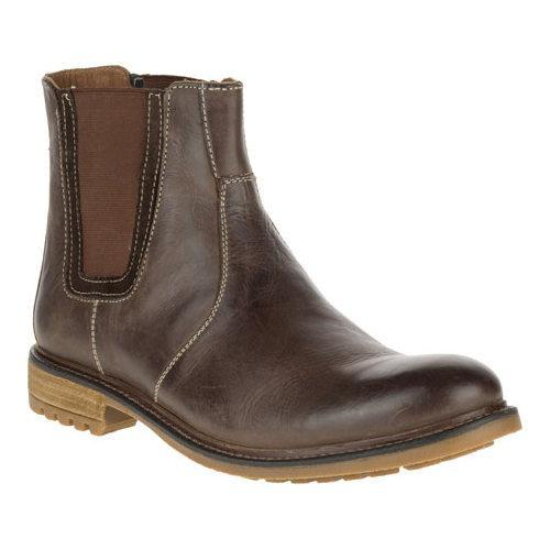 bdd07876a04 Men's Hush Puppies Beck Rigby Chelsea Boot Dark Brown Leather