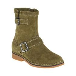 Women's Hush Puppies Aydin Catelyn Ankle Boot Dark Olive Suede