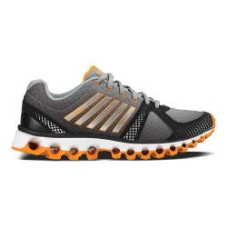 Men's K-Swiss X-160 CMF Sneaker Neutral Gray/Black/Vibrant Orange