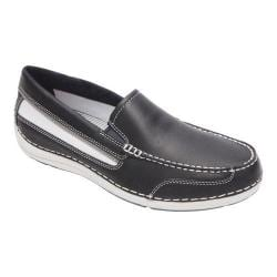 Men's Rockport Shoal Lake Slip On New Dress Blues Leather