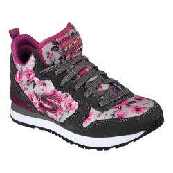 Girls' Skechers Retrospect Hollywood Rose High Top Gray/Pink
