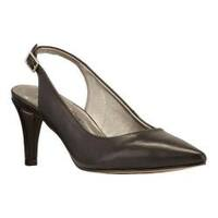 Women's Walking Cradles Sidney Slingback Black Cashmere Leather