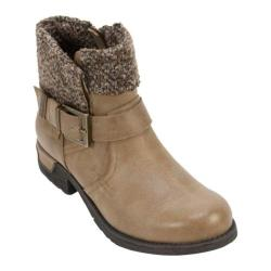 Women's White Mountain Riza Ankle Boot Tan Fabric