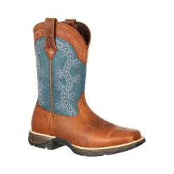 Women's Durango Boot DRD0137 10in Durango Lady Rebel Boot Brown/Teal Distressed Full Grain Leather/Synthetic