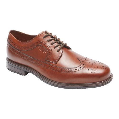 Men's Rockport Essential Details II Wing Tip Oxford Tan Antique Leather
