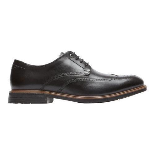 Men's Rockport Classic Break Wingtip Oxford Black Leather - Thumbnail 1