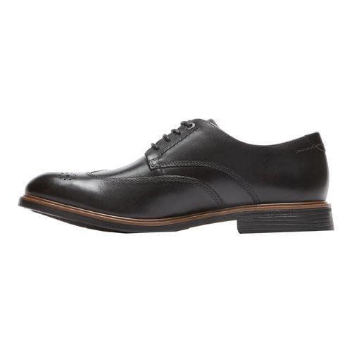 Men's Rockport Classic Break Wingtip Oxford Black Leather - Thumbnail 2