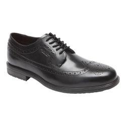 Men's Rockport Essential Details II Wing Tip Oxford Black Leather
