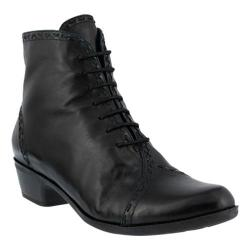 Women's Spring Step Jaru Bootie Black Leather