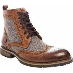 Men's Steve Madden Spacely Wing Tip Boot Tan Multi Leather