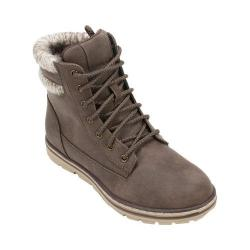 Women's Cliffs by White Mountain Karissa Double Cuffed Hiker Boot Stone Distressed Textile/Taupe Sweater
