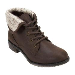 Women's Cliffs by White Mountain Neponset Cuffed Combat Boot Brown Multi/Distressed Textile/Sweater