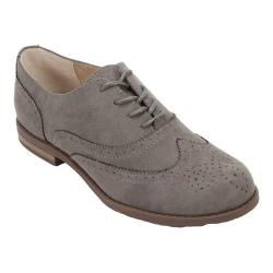 Women's Cliffs by White Mountain Sharlyn Wing Tip Oxford Grey Suedette Fabric