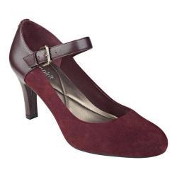 Women's Easy Spirit Tarni Mary Jane Wine Leather/Wine Suede