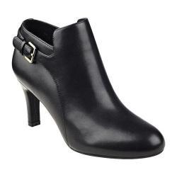 Women's Easy Spirit Tatiana Bootie Black/Black Leather